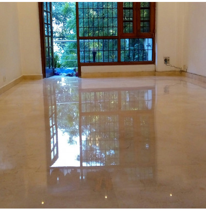 Marble Floor Polishing In Nidhi Apartment, Delhi